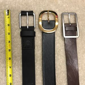 Other - Lot of three leather belts size large